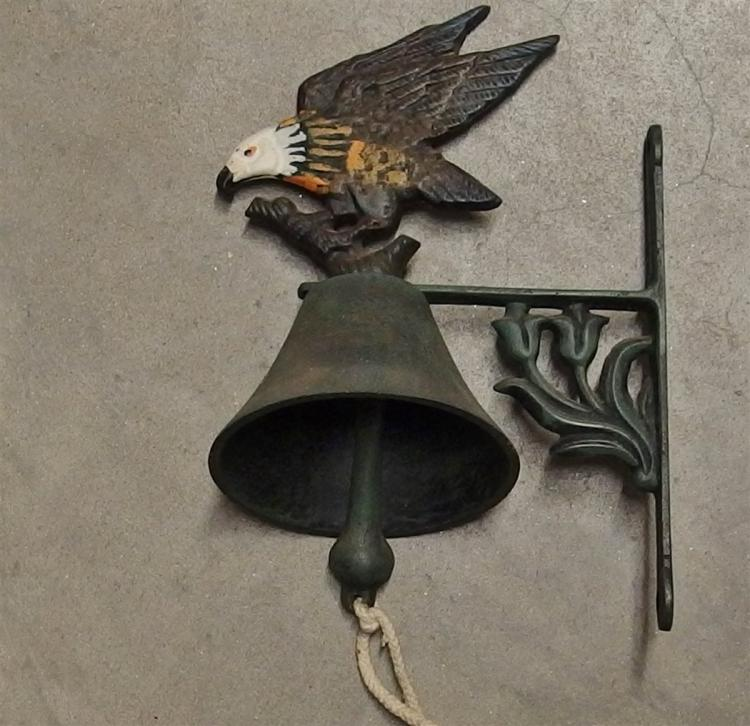 Cast Iron Farm Bell with Eagle