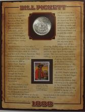 Lot 134: 1888 MORGAN Silver Dollar - PCS Legends of the West Coin & Stamp BILL PICKET