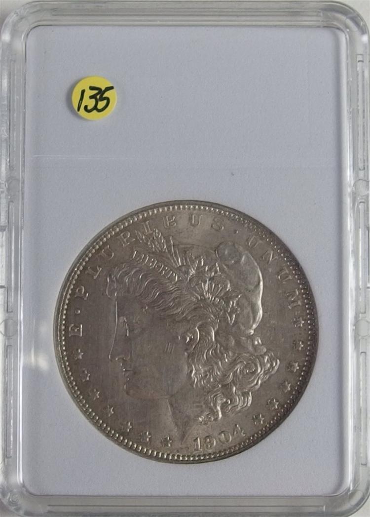 1904-O AU MORGAN Silver Dollar