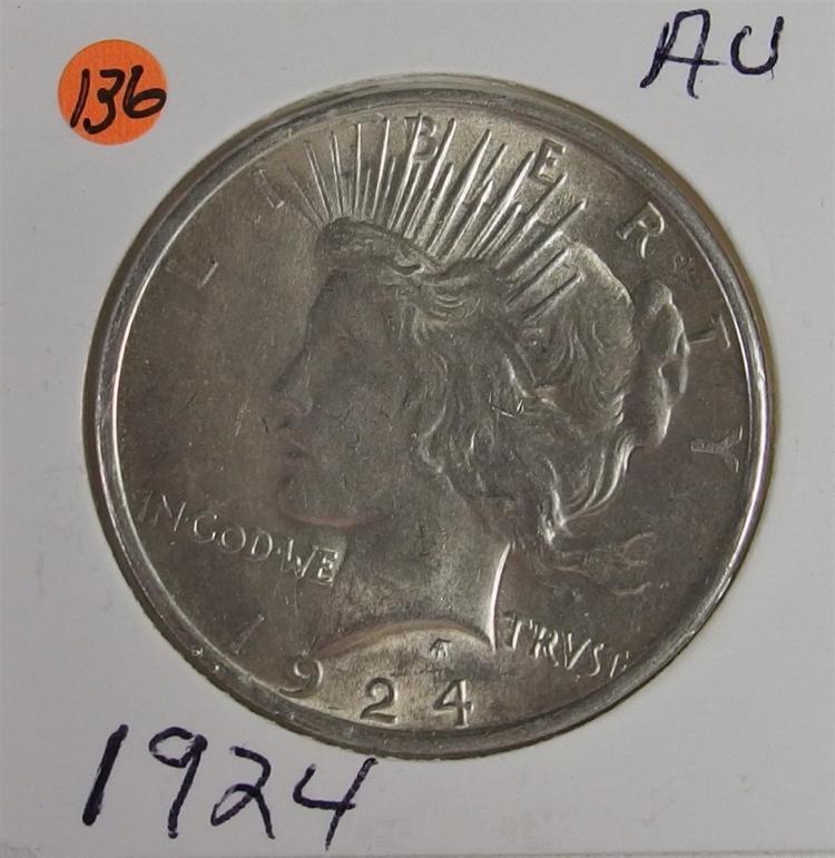 1924 AU PEACE Dollar