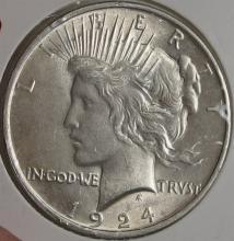 Lot 136: 1924 AU PEACE Dollar