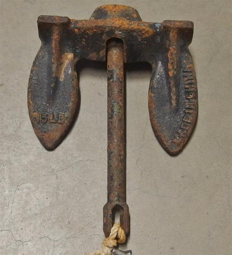 Cast Iron Boat Anchor
