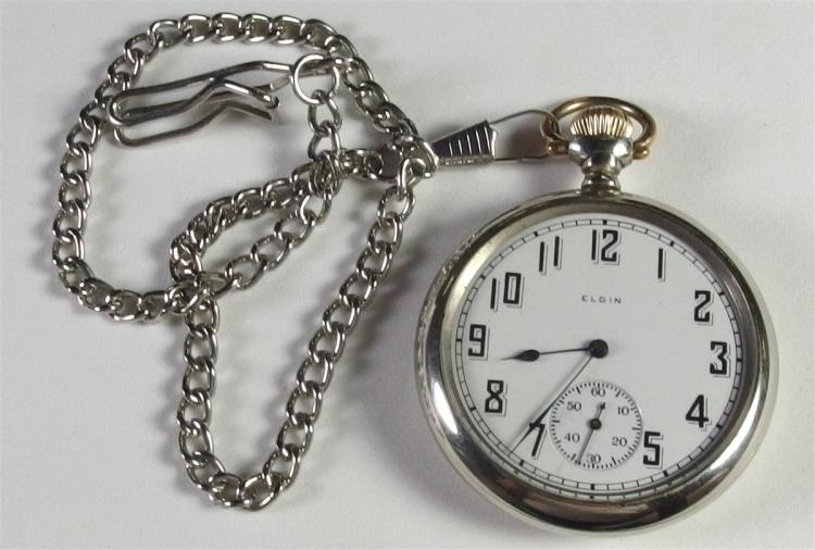 Vintage Pocket Watch with Chain, Working