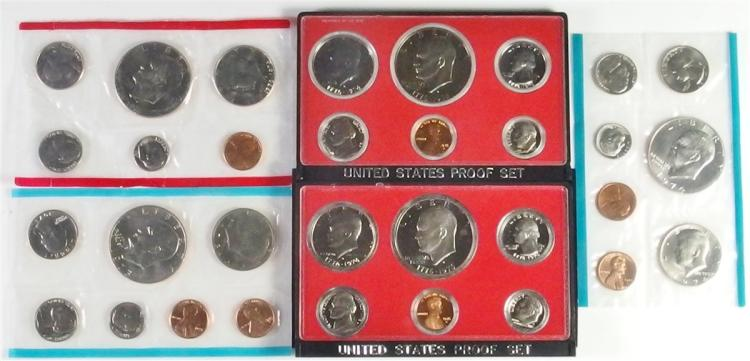Lot of 5 - IKE Coin Sets - 2 Proof 3 Uncirculated