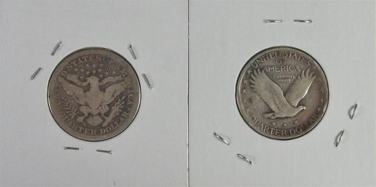 Lot 151: Lot of 2 - 1912 BARBER & 1925 STANDING LIBERTY Quarters
