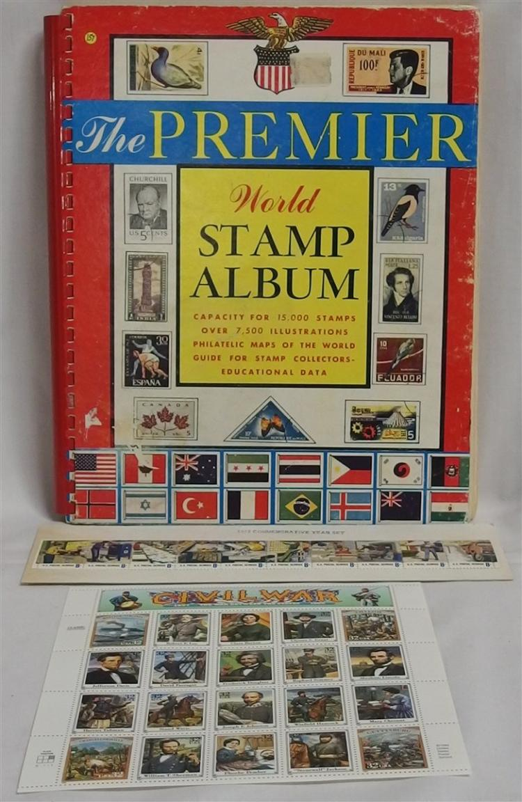 Vintage 1967 Stamp Book with Stamp Collection