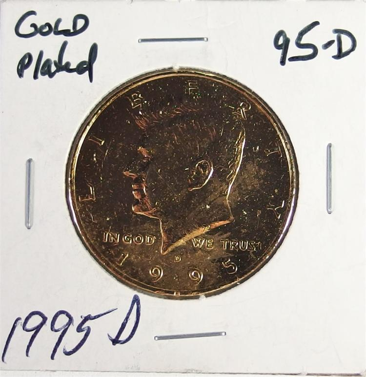 Lot 160: 3 Gold Plated Kennedy Half Dollars additional minting