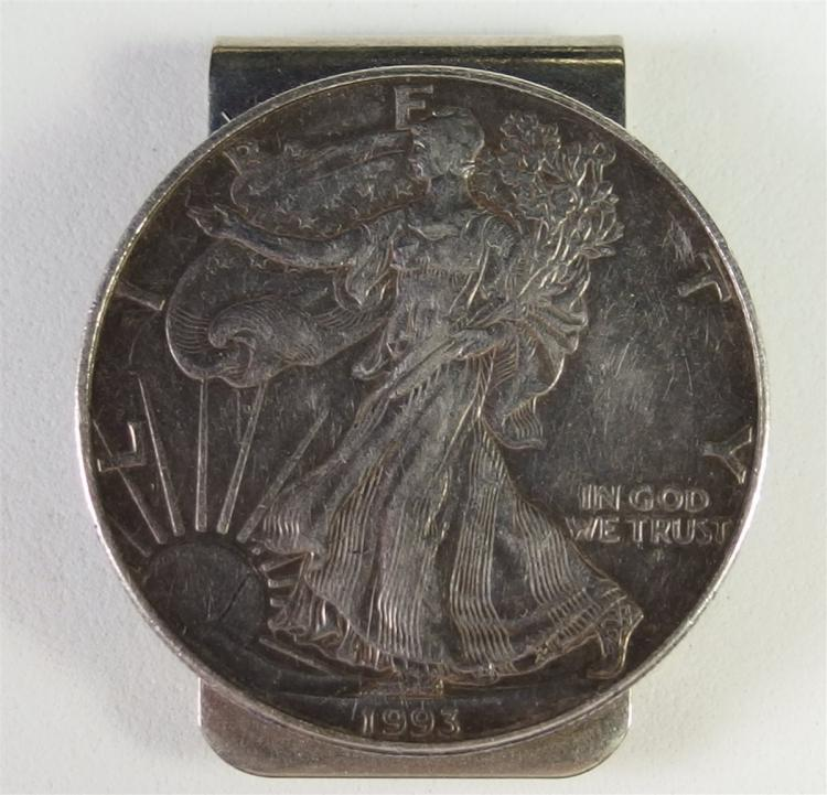 1993 .999 SILVER EAGLE Money Clip