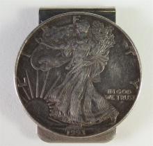Lot 161: 1993 .999 SILVER EAGLE Money Clip