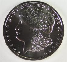 Lot 162: One Troy Ounce .999 SILVER Honoring of a MORGAN Dollar