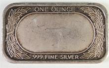 Lot 163: One Troy Ounce .999 SILVER Bar The Ten Commandments