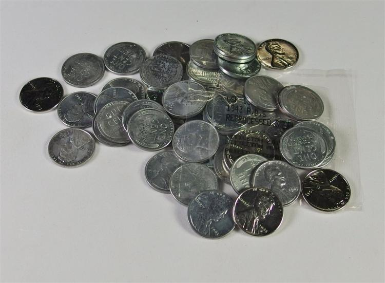 Full Roll of 50 Uncirculated Steel Pennies