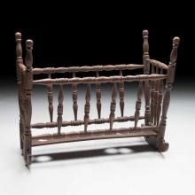 Normandie-style French Baby or Doll Cradle c.1920