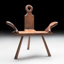 c. 1940 Arts & Crafts-style Wood Stool