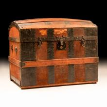 Late 19th c. Victorian Steamer Trunk