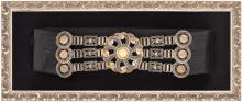 A SILVER AND LEATHER GAUCHO BELT BY JUAN JOSE DRAGHI