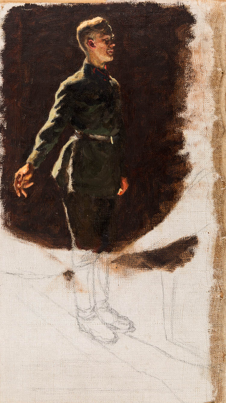 A STUDY FOR A FAMOUS PAINTING BY LAKTIONOV, CIRCA 1930S