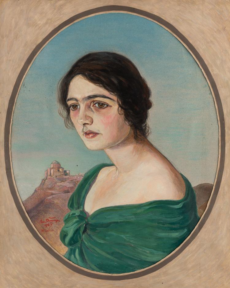 A RUSSIAN PORTRAIT OF A WOMEN BY EISNER, 1927
