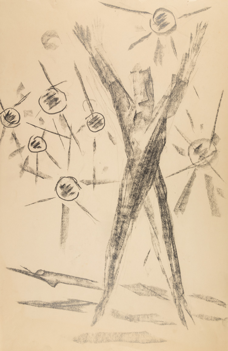A RUSSIAN DRAWING TO A POEM BY LEVIN, 1966