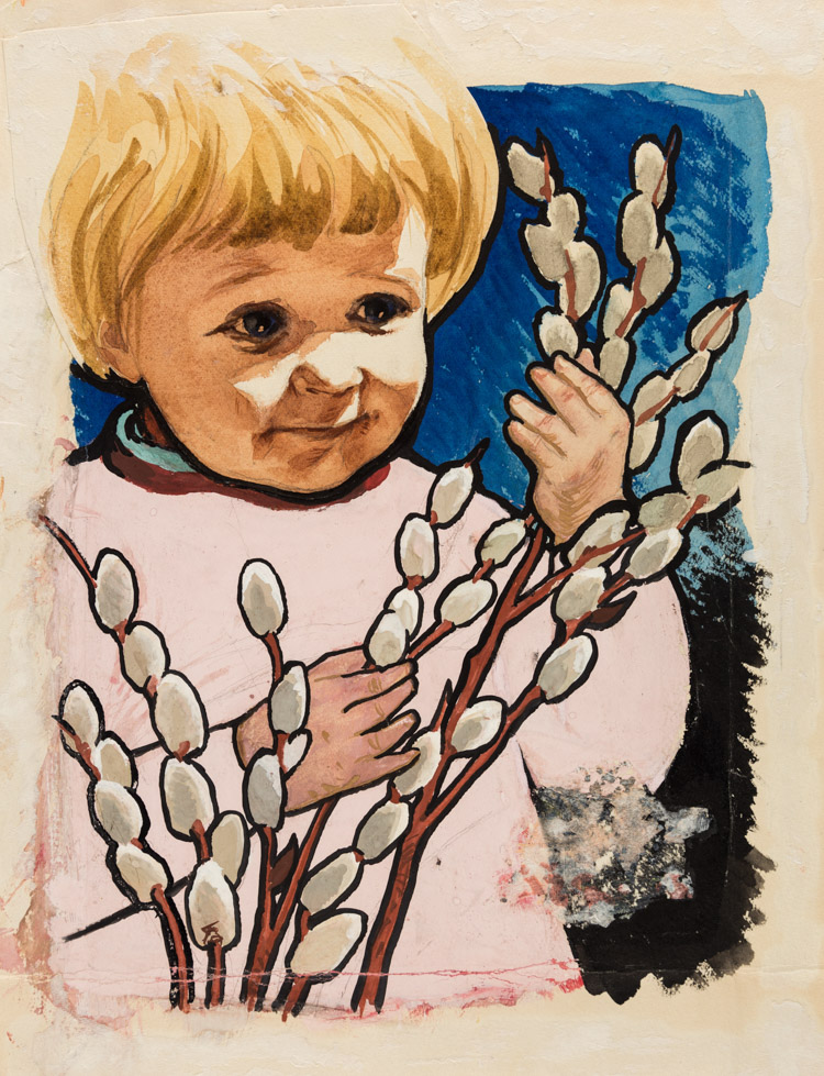 AN ORIGINAL ILLUSTRATION FOR THE COVER OF SOVIET CHILDREN'S MAGAZINE TIT, 1959