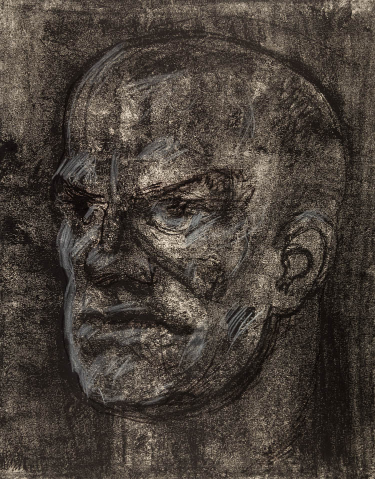 A RUSSIAN LITHOGRAPH OF MAYAKOVSKY BY LEVIN, 1966