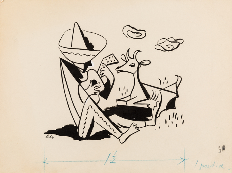 VLADIMIR BOBRITSKIY [BOBRI] (RUSSIAN 1898-1986)