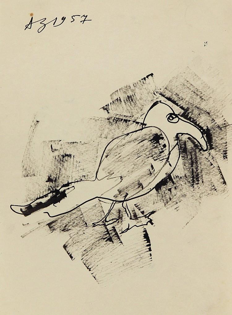 ANATOLY ZVEREV (RUSSIAN 1931-1986), 'A Bird' 1957,