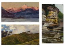 A GROUP OF 3 LANDSCAPE PAINTINGS BY NIKOLAI NIKANOROVICH DUBOVSKOY (RUSSIAN 1859-1918)