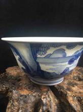 Chinese Fine Blue & White Porcelain Bowl