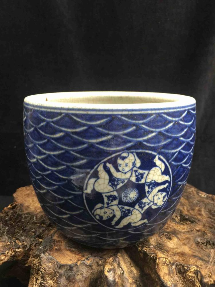 Chinese Blue & White Fine Porcelain Vase