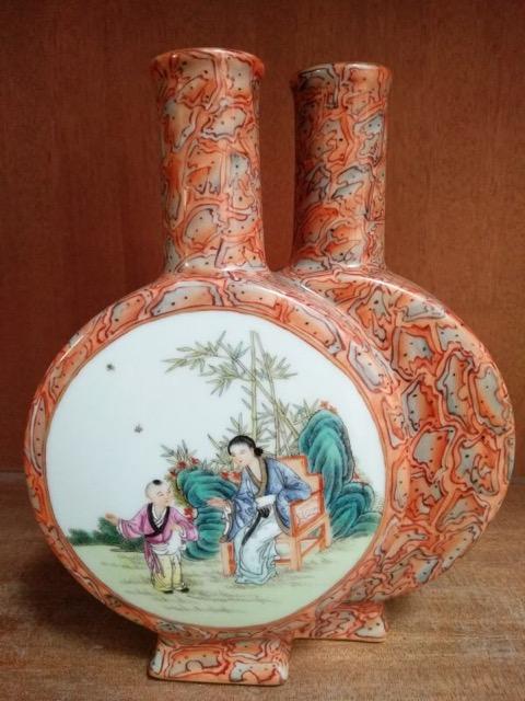 Chinese Famille Rose Vase(Bao Yue Ping)