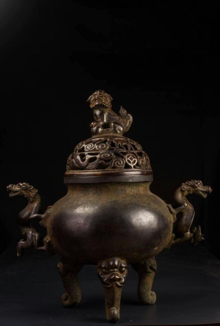 Chinese Bronze Incense Burners