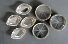 Sterling Coasters and Nut Dishes