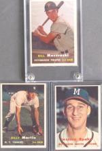 3 Star 1957 TOPPS Baseball Cards