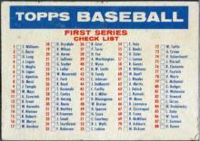 1957 TOPPS Checklist 1/2