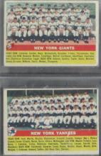 2 - 1956 TOPPS Team Cards