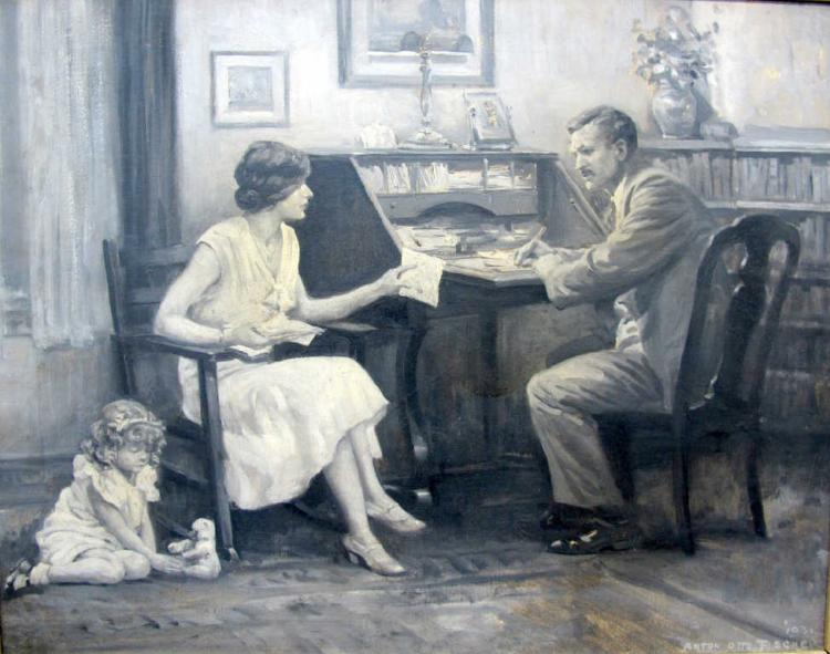 Anton Fischer Original Oil on Canvas