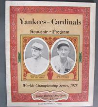 Yankees Vs.Cardinals World Series Program 1928
