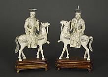 2 Asian Bone Figural Carvings