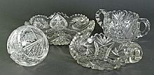 4 Pieces Cut Glass