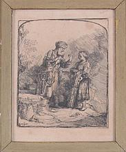 Rembrandt Etching from Original Plate