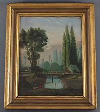 Frank H. Miller Oil on Metal, early 20th C.