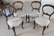 4 Balloon Back Antique Chairs