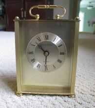 Brass Quartz Carriage Clock by Hamilton