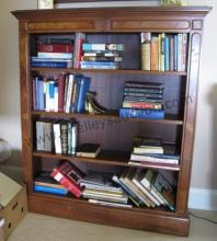 Antique Walnut & Burl Bookcase