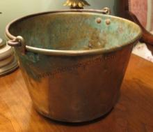 Brass Apple Butter Bucket