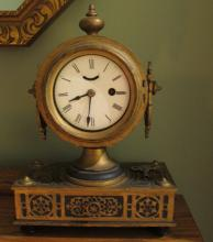 Antique Brass Clock