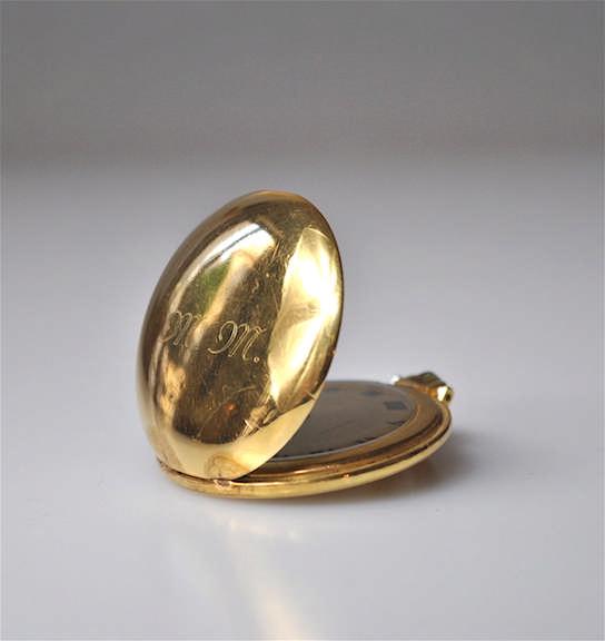 TISSOT - Montre de poche savonnette en or jaune 18K (750) à remontoir, le c