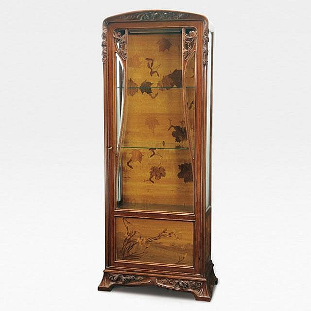Louis Majorelle/ A Marquetry Cabinet