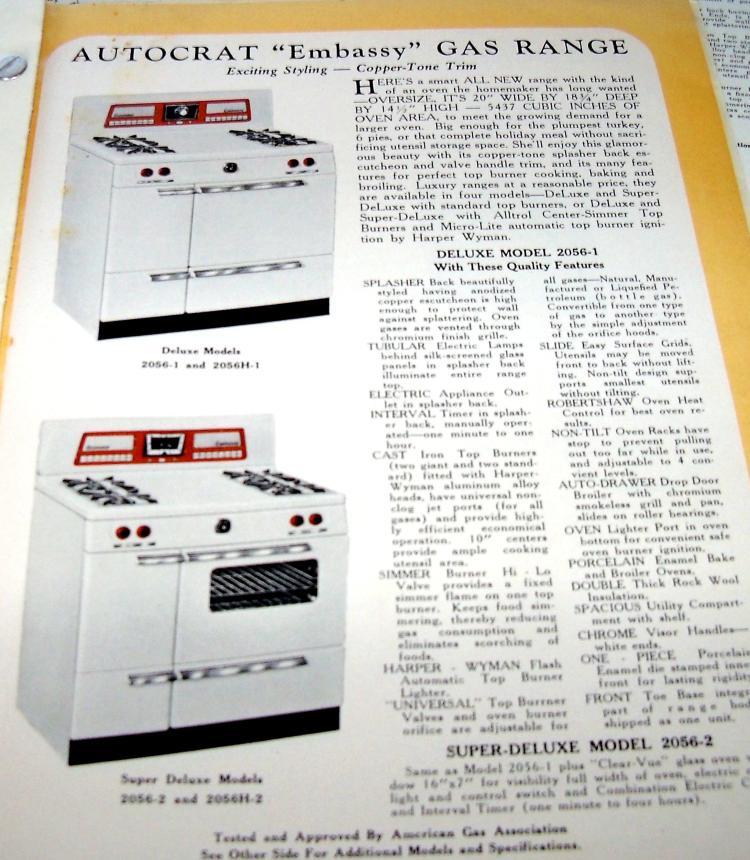 Vintage Ephemera Advertising Booklet Autocrat Line Of Ranges Heaters